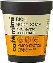 "Parfémy, Parfumerie, kosmetika Tekuté mýdlo ""Thajské mango a kokos"" - Cafe Mimi Soap"