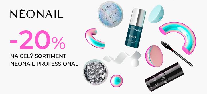 Sleva až 20% na celý sortiment NeoNail Profesional. Ceny na webu jsou včetně slev