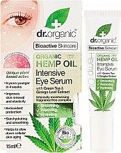 Parfémy, Parfumerie, kosmetika Intenzivní sérum na pleť kolem očí Konopný olej - Dr. Organic Bioactive Skincare Hemp Oil Intensive Eye Serum