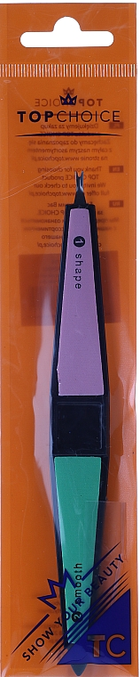 Pilník-leštička na nehty 200/400/600/2000, 16 cm, 77715 - Top Choice — foto N1