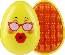 Parfémy, Parfumerie, kosmetika Kartáč na vlasy 3002W, smajlík s brýlemi - IDC Design Smile Brush