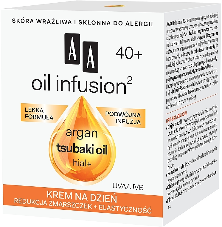 Denní krém proti vráskám - AA Oil Infusion Day Cream Against Wrinkles 40+ — foto N2