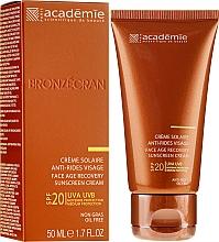 Parfémy, Parfumerie, kosmetika Opalovací regenerační krém SPF 20+ - Academie Bronzecran Face Age Recovery Sunscreen Cream