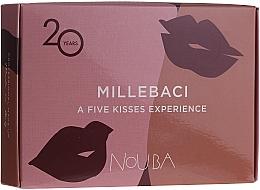 Parfémy, Parfumerie, kosmetika Sada №2 - NoUBA Millebaci Box Set 5 Kisses Experience (lipstick/5x3ml)