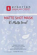 Parfémy, Parfumerie, kosmetika Matující plátýnková pleťová maska - Erborian Matte Shot Mask