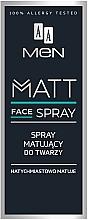 Parfémy, Parfumerie, kosmetika Matující obličejový sprej pro muže - AA Men Matt Face Spray