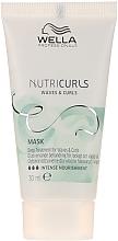 Intenzivní vyživující maska na kudrnaté vlasy - Wella Professionals Nutricurls Mask (mini) — foto N1