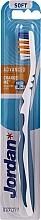 Parfémy, Parfumerie, kosmetika Zubní kartáček Advanced, bez krytu, modrý - Jordan Advanced Soft Toothbrush