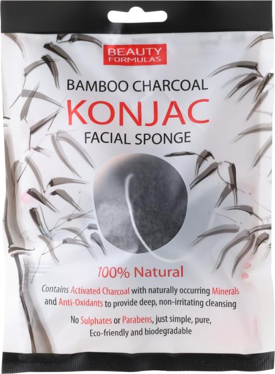 Čisticí houbička - Beauty Formulas Konjac Bamboo Charcoal Facial Sponge