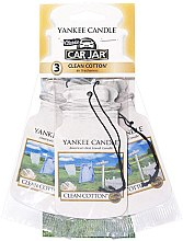 Parfémy, Parfumerie, kosmetika Sada vůní do auto - Yankee Candle Car Jar Clean Cotton