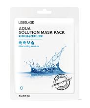 Parfémy, Parfumerie, kosmetika Pleťová maska látková - Lebelage Aqua Solution Mask
