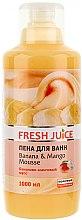 Parfémy, Parfumerie, kosmetika Pěna do koupele - Fresh Juice Banana and Mango Mousse