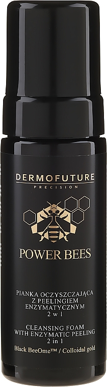 Čisticí pěna s enzymovým peelingem 2v1 - Dermofuture Power Bees Cleansing Foam 2in1