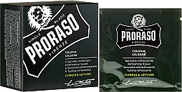 Parfémy, Parfumerie, kosmetika Osvěžující ubrousky na obličej a vousy - Proraso Cypress & Vetyver Refreshing Tissues