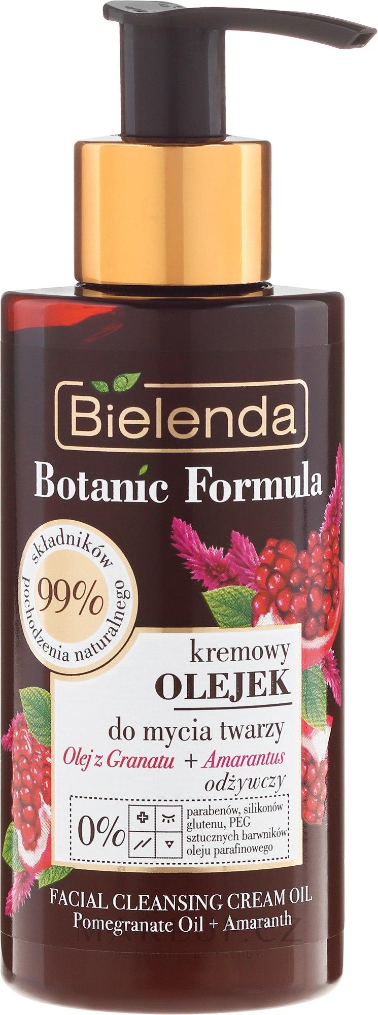Čistící krémový olej na obličej - Bielenda Botanic Formula Pomegranate Oil + Amaranth Facial Cleansing Cream Oil — foto 140 ml