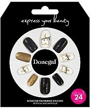 Parfémy, Parfumerie, kosmetika Sada umělých nehtů s lepidlem, 3056 - Donegal Express Your Beauty