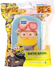 "Parfémy, Parfumerie, kosmetika Dětská houba do koupele ""Minions"", žlutá s modrým - Suavipiel Minnioins Bath Sponge"