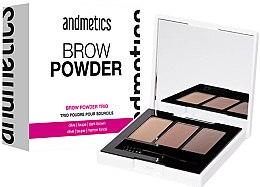 Parfémy, Parfumerie, kosmetika Pudr na obočí - Andmetics Brow Powder Trio