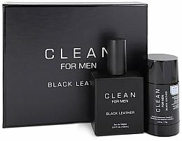 Parfémy, Parfumerie, kosmetika Sada - Clean Black Leather Men (edt/100ml + deo/75ml)