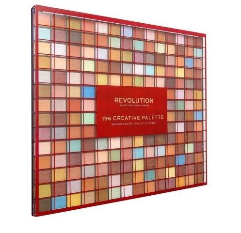 Paleta očních stínů, 196 odstínů - Makeup Revolution 196 Creative Palette Eyeshadow Palette