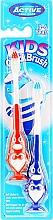 Parfémy, Parfumerie, kosmetika Sada zubních kartáčku, 3-6 let, tučňák, modrá a červená - Beauty Formulas Kids Quick Brush