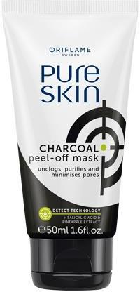 Čisticí maska s uhlím - Oriflame Pure Skin Charcoal Peel-off mask — foto N1