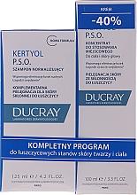 Parfémy, Parfumerie, kosmetika Sada - Ducray Kertyol P.S.O. (shm/100ml + concentrate/125ml)