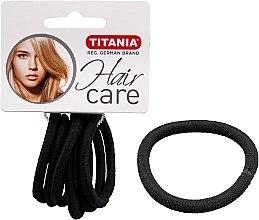 Parfémy, Parfumerie, kosmetika Gumičky do vlasů, 6 ks, černé, 6 mm - Titania