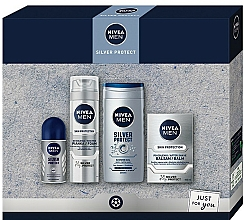 Parfémy, Parfumerie, kosmetika Sada - Nivea Men Silver Protect 2020 (balm/100ml + foam/200ml + shower/gel/250ml + deo/50ml)
