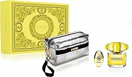 Parfémy, Parfumerie, kosmetika Versace Yellow Diamond - Sada (edt/90ml + edt/10ml + pouch)