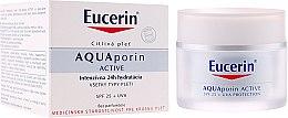 Parfémy, Parfumerie, kosmetika Krém na obličej - Eucerin AquaPorin Active Deep Long-lasting Hydration For All Skin Types SPF 25 + UVA