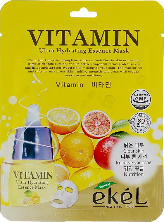 Pleťová látková maska s vitamínovým komplexem - Ekel Vitamin Ultra Hydrating Mask
