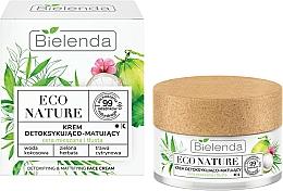 Parfémy, Parfumerie, kosmetika Pleťový krém - Bielenda Eco Nature Coconut Water Green Tea & Lemongrass Face Cream