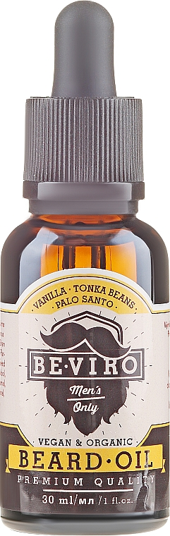 Olej na bradu - Be-Viro Beard Oil Vanilla Palo Santo Tonka Boby — foto N2