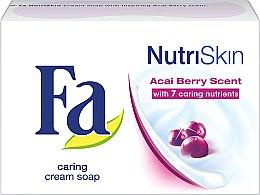 "Parfémy, Parfumerie, kosmetika Mýdlo ""Acai jahody"" - Fa NutriSkin Acai Berry Bar Soap"