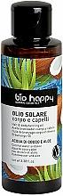 Parfémy, Parfumerie, kosmetika Opalovací olej Kokosová voda a aloe - Bio Happy Hair & Body Tanning Oil Coconut Water And Aloe