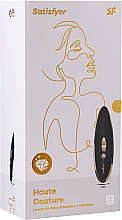 Parfémy, Parfumerie, kosmetika Vakuový stimulátor klitorisu, černý - Satisfyer Luxury Haute Couture Black