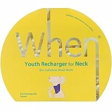 Parfémy, Parfumerie, kosmetika Biocelulózová anti-age maska na krk - When Youth Recharger For Neck Bio-Cellulose Mask