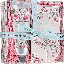 Parfémy, Parfumerie, kosmetika Sada - Baylis & Harding Royale Garden Rose Poppy And Vanila (sh/cr/130ml + b/butter/100ml + soap/150g)