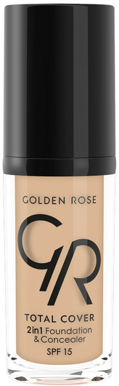 Tónalni krémový korektor - Golden Rose Total Cover 2in1 Foundation & Concealer