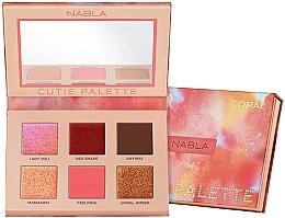 Parfémy, Parfumerie, kosmetika Paleta očních stínů - Nabla Cutie Collection Palette Coral