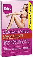 Parfémy, Parfumerie, kosmetika Voskové depilační proužky na tělo - Taky Chocolate Body Wax Strips With Orange Fragrance Box