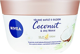 Parfémy, Parfumerie, kosmetika Tělové suflé s kokosem a máslem Manoi - Nivea Body Souffle Coconut & Monoi Oil
