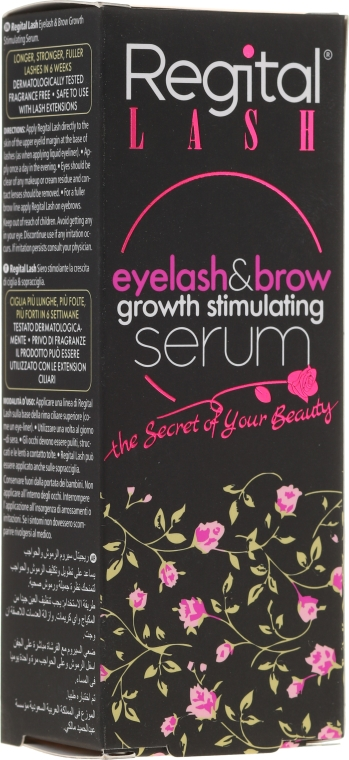 Sérum pro růst řas a obočí - Regital Lash Eyelash & Brow Growth Stimulating Serum