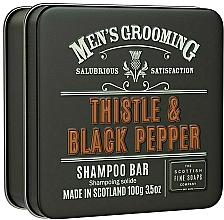 Parfémy, Parfumerie, kosmetika Vlasový šampon Bodlák a černý pepř - Scottish Fine Soaps Mens Grooming Thistle & Black Pepper Shampoo Bar