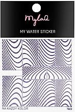 Parfémy, Parfumerie, kosmetika Samolepky na nehty 7 Zebra - MylaQ My Water Sticker