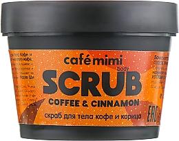 Parfémy, Parfumerie, kosmetika Tělový peeling Káva a skořice - Cafe Mimi Body Scrub Coffee & Cinnamon