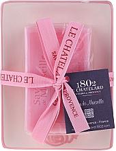 Parfémy, Parfumerie, kosmetika Přírodní mýdlo s keramickou mýdlenkou - Le Chatelard Rose Soap