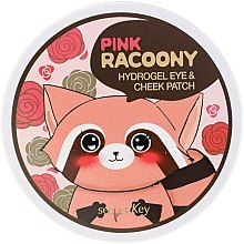 Parfémy, Parfumerie, kosmetika Hydrogelové náplasti na oči a lícní kosti - Secret Key Pink Racoony Hydro-Gel Eye & Cheek Patch