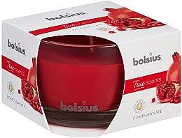 """Parfémy, Parfumerie, kosmetika Vonná svíčka ve sklenici """"Granátové jablko"""", 63/90 mm - Bolsius True Scents Candle"""